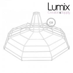 Abat-jour cage XL Sonar métal Blanc avec douille E27