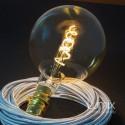 Ampoule géante Globe dorée G200 à filament led double spirale 5 W-E27-220 Volts