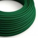 Câble textile 2 x 0,75 mm2 Vert foncé effet soie