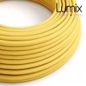 Câble textile 2 x 0,75 mm2 Jaune effet soie