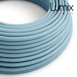 Câble textile 2 x 0,75 mm2 bleu azur effet soie