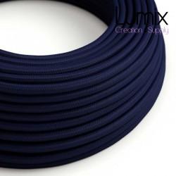 Câble textile 2 x 0,75 mm2 bleu foncé effet soie