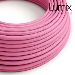 Câble textile 2 x 0,75 mm2 Fuchsia effet soie