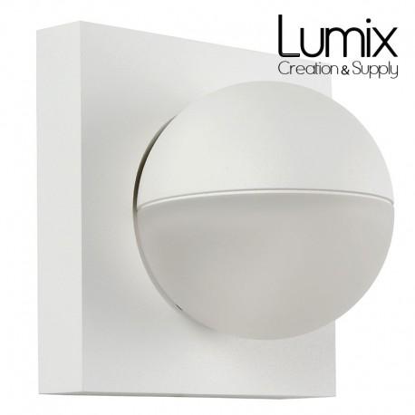 Applique murale sphère mobile - LED - métal Blanc