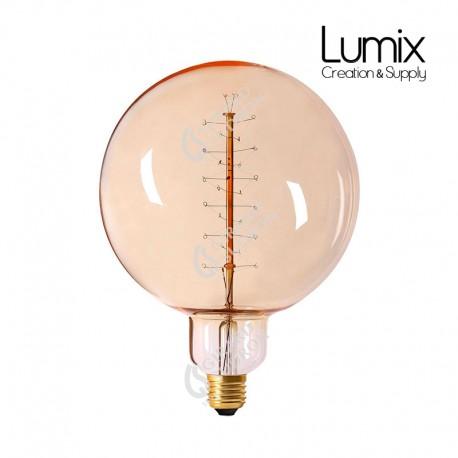 Ampoule E27 Globe 200 mm de diamètre à filament spirale métal