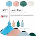 Suspension personnalisée Konik Pastel abat-jour conique en métal diam 220 mm
