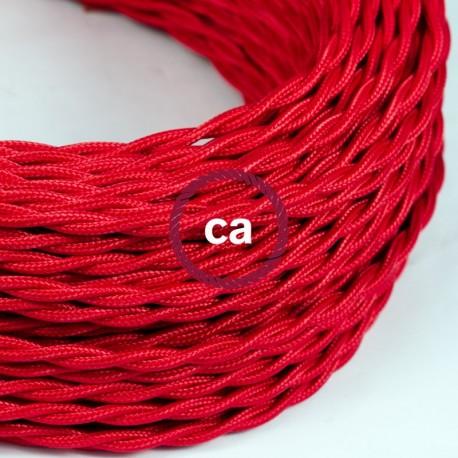 COMMANDE PRIVÉE - Câble textile torsadé rouge 2 conducteurs