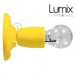 Lampe applique porcelaine Jaune en plafonnier ou en applique murale