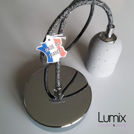 Suspension simple douille ciment finition chromée