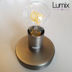 Lampe plafonnier ou en applique murale - Couleur métal Titane satiné