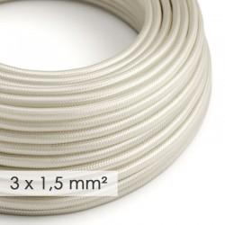 Rallonge câble 2 mètres 3 x 1,5 mm2 fiche 2 poles + terre