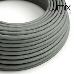 Câble textile 2 x 0,75 mm2 Gris effet soie