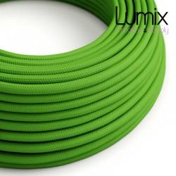 Câble textile 2 x 0,75 mm2 Vert Lime effet soie
