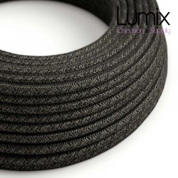 Câble textile 2 x 0,75 mm2 Lin anthracite