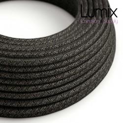 Câble textile 2 x 0,75 mm2 Lin anthracite
