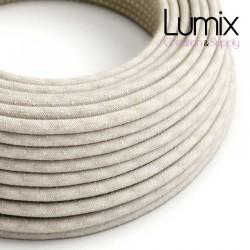 Câble textile 2 x 0,75 mm2 Lin neutre