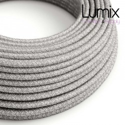 Câble textile 2 x 0,75 mm2 Lin gris