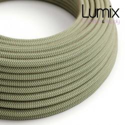 Câble textile 2 x 0,75 mm2 Lin Vert thym