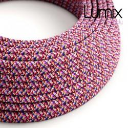 Câble textile 2 x 0,75 mm2 Fuchsia PIXEL effet soie