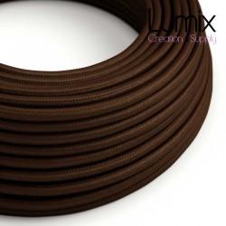 Câble textile 2 x 0,75 mm2 marron effet soie