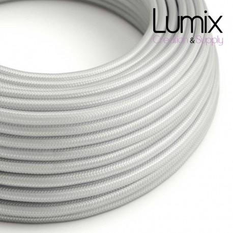Câble textile 2 x 0,75 mm2 Argent effet soie