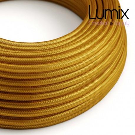 Câble textile 2 x 0,75 mm2 Or effet soie