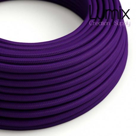 Câble textile 2 x 0,75 mm2 violet effet soie