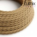 Câble textile torsadé 2 x 0,75 mm2 Jute naturel