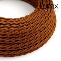 Câble textile torsadé 2 x 0,75 mm2 Whiskey effet soie