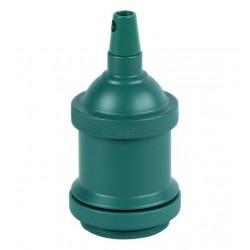 Porte-douille métal couleur vert bouteille mat avec bague pour montage abat-jour