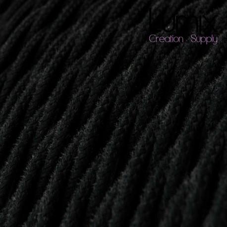 Commande privée - 15 m de câble textile torsadé noir 3 G0,75