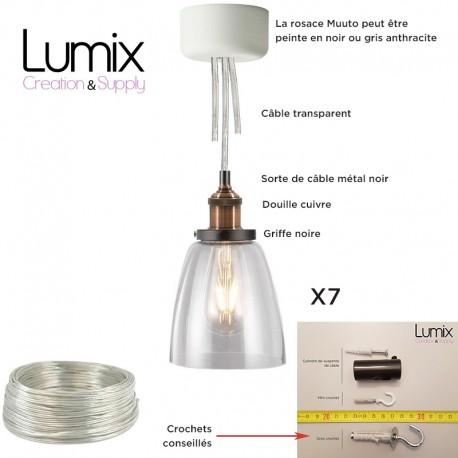 PRIVÉE - Suspension multiple sur-mesure - 7 lampes VT-7140-3735