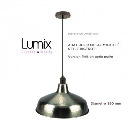Hanging lampshade hammered metal Bistro style metal - metal color model bronze style
