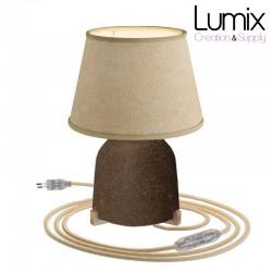Lampe à poser COPPA en céramique avec abat-jour Impero