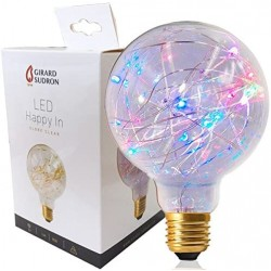 Ampoule Globe G95 LED Strip Happy In E27 1.5 W Finition Claire