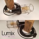 Portable lamp with steel cage year 1970 brought into conformity
