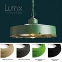 Industrial style pendant lamp in metal painted in industry green