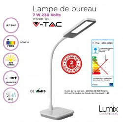 Lampe de Bureau - LED 7 Watts 3 couleurs au choix
