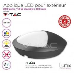 Applique Dome LED 8W blanc ou noir
