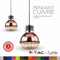 Suspension en cuivre 220 Volts - 60W max E27