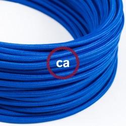 Zoom sur câble textile 2 x 0,75 mm2 Bleu effet soie